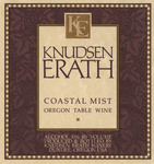 Knudsen Erath Winery Coastal Mist Oregon Table Wine Label
