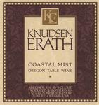 Knudsen Erath Winery Coastal Mist Oregon Table Wine Label by Knudsen Erath Winery