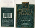 Erath Vineyards 1998 Willamette Valley Chardonnay Wine Label