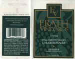 Erath Vineyards 1998 Willamette Valley Chardonnay Wine Label by Erath Vineyards
