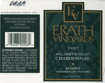 Erath Vineyards 1997 Willamette Valley Chardonnay (Niederberger) Wine Label