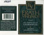 Erath Vineyards 1997 Willamette Valley Chardonnay (Niederberger) Wine Label by Erath Vineyards