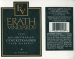 Erath Vineyards 1995 Willamette Valley Gewürztraminer Wine Label
