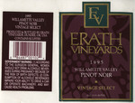 Erath Vineyards 1995 Willamette Valley Pinot Noir Wine Label