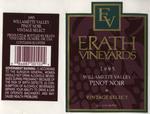 Erath Vineyards 1995 Willamette Valley Pinot Noir Wine Label by Erath Vineyards
