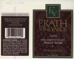 Erath Vineyards 1998 Willamette Valley Vintage Select Pinot Noir Wine Label by Erath Vineyards
