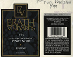 Erath Vineyards 1997 Willamette Valley Pinot Noir Reserve Wine Label