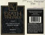 Erath Vineyards 1997 Willamette Valley Pinot Noir Reserve Wine Label by Erath Vineyards