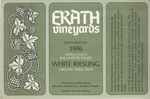 Erath Vineyards 1976 Appellation Willamette Valley White Riesling Wine Label