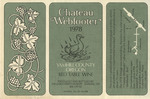 Chateau Webfooter 1978 Yamhill County Red Table Wine Label