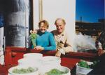 Philippe and Bonnie Girardet with Grapes by Unknown