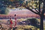 Girardet Children near Vineyard by Philippe Girardet