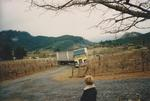 Semi-Truck Climbing a Vineyard Road by Philippe Girardet