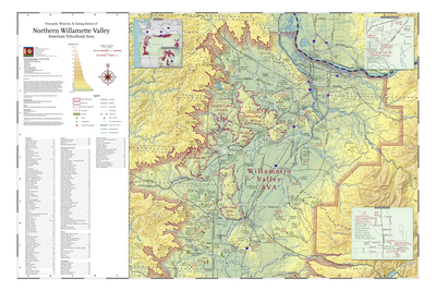 map of oregon wineries Map Of Vineyards Wineries Tasting Rooms Of Northern Willamette map of oregon wineries