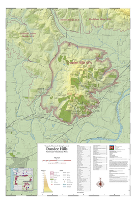 Map of Vineyards Wineries Tasting Rooms of Dundee Hills American