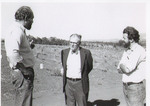 Dick Ponzi and Dick Erath Speaking to an Unidentified Man by Unknown