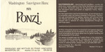 Ponzi Vineyards 1978 Washington Sauvignon Blanc Wine Label by Ponzi Vineyards