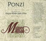 Ponzi Vineyards Marisa Willamette Valley Oregon White Table Wine Label by Ponzi Vineyards