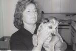 Nancy Ponzi with Puppy