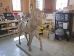 Wooden Carousel Horse by Linfield College Archives