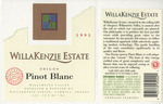 Willakenzie Estate 1995 Willamette Valley Pinot Blanc Wine Label by WillaKenzie Estate