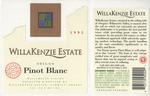 Willakenzie Estate 1995 Willamette Valley Pinot Blanc Wine Label