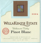 WillaKenzie Estate 2002 Willamette Valley Pinot Blanc Wine Label