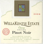 WillaKenzie Estate 2000 Wilalmette Valley Pinot Noir Wine Label by WillaKenzie Estate
