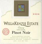 WillaKenzie Estate 2000 Wilalmette Valley Pinot Noir Wine Label