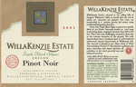 WillaKenzie Estate 2001 Willamette Valley Pinot Noir Wine Label by WillaKenzie Estate