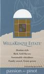 """Pinot Gris """"Shelf Talker"""" by WillaKenzie Estate"""