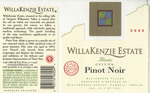 WillaKenzie Estate 2000 Willamette Valley Pinot Noir Wine Label by WillaKenzie Estate