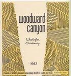 Woodward Canyon Winery 1982 Washington Chardonnay Wine Label