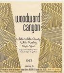 Woodward Canyon Winery 1983 Walla Walla County White Riesling Wine Label