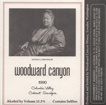 Woodward Canyon Winery 1990 Columbia Valley Cabernet Sauvignon Wine Label